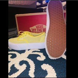 Vans Shoes - Pretty yellow platform vans 🌼